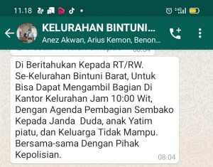 Group WhatsApp Kelurahan Bintuni Barat